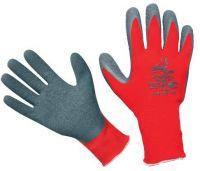 Pracovní rukavice HORNBILL - vel. 9. s nánosem gumy