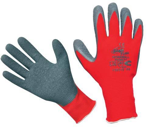 Pracovní rukavice HORNBILL - vel. 9. s nánosem gumy Červa