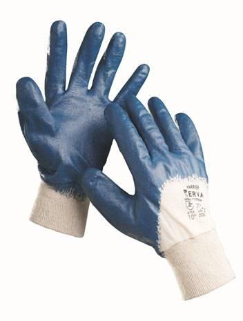 Pracovní rukavice NITRIL HARRIER - vel. 10 Máčené Červa