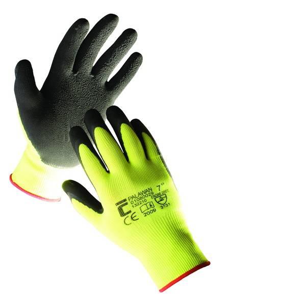 Pracovní rukavice PALAWAN - vel. 10 Povrstvené nylon-latex Červa