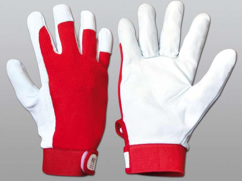 Pracovní rukavice DORO vel. 9 kombinované Červa